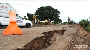 นักวิชาการชี้ถมดินซ่อมถนนทรุดผิดวิธี