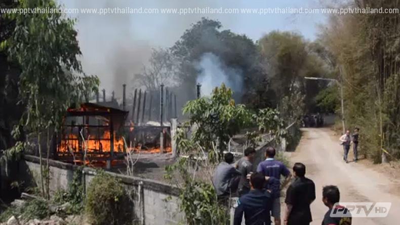 เหตุเพลิงไหม้รถบรรทุกชลบุรี - บ้านไม้สักวอดที่กำแพงเพชร