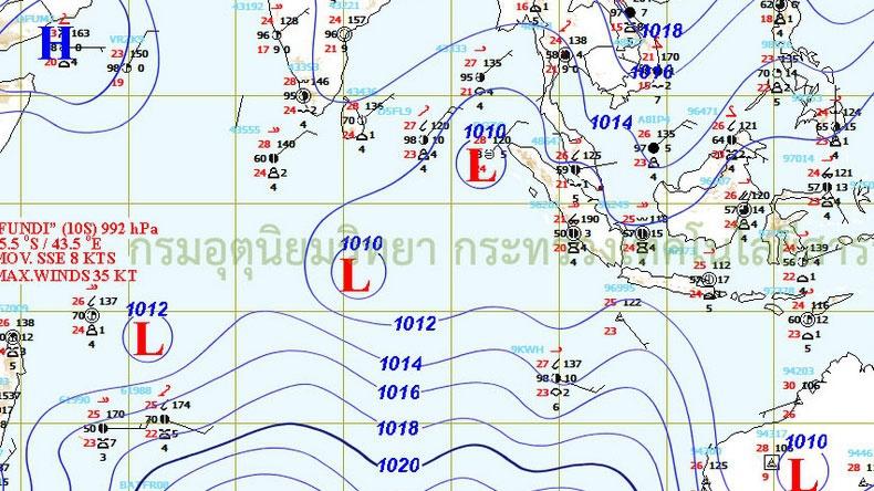 อุตุฯ เผยไทยตอนบนอากาศหนาวเย็น-ใต้คลื่นสูง