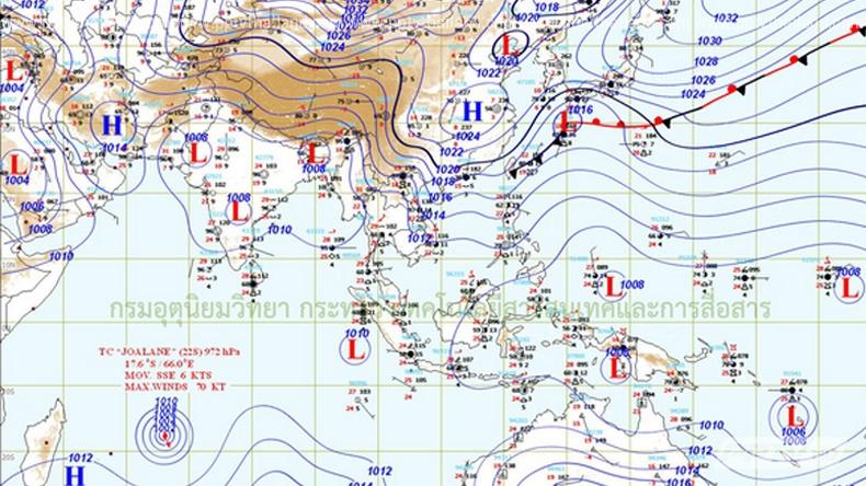 อุตุฯเตือน 11-13เม.ย. ไทยมีพายุฤดูร้อนเพิ่มมากขึ้น