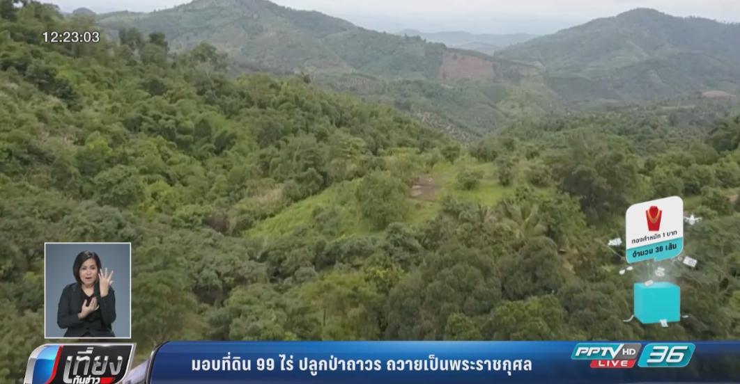 """ชาวบ้านมอบที่ดิน 99 ไร่ปลูกป่าถาวร """"ถวายเป็นพระราชกุศล"""""""