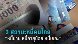 """3 คำนิยาม สถานะหนี้คนไทย """"หนี้นาน หนี้อายุน้อย หนี้เยอะ"""""""
