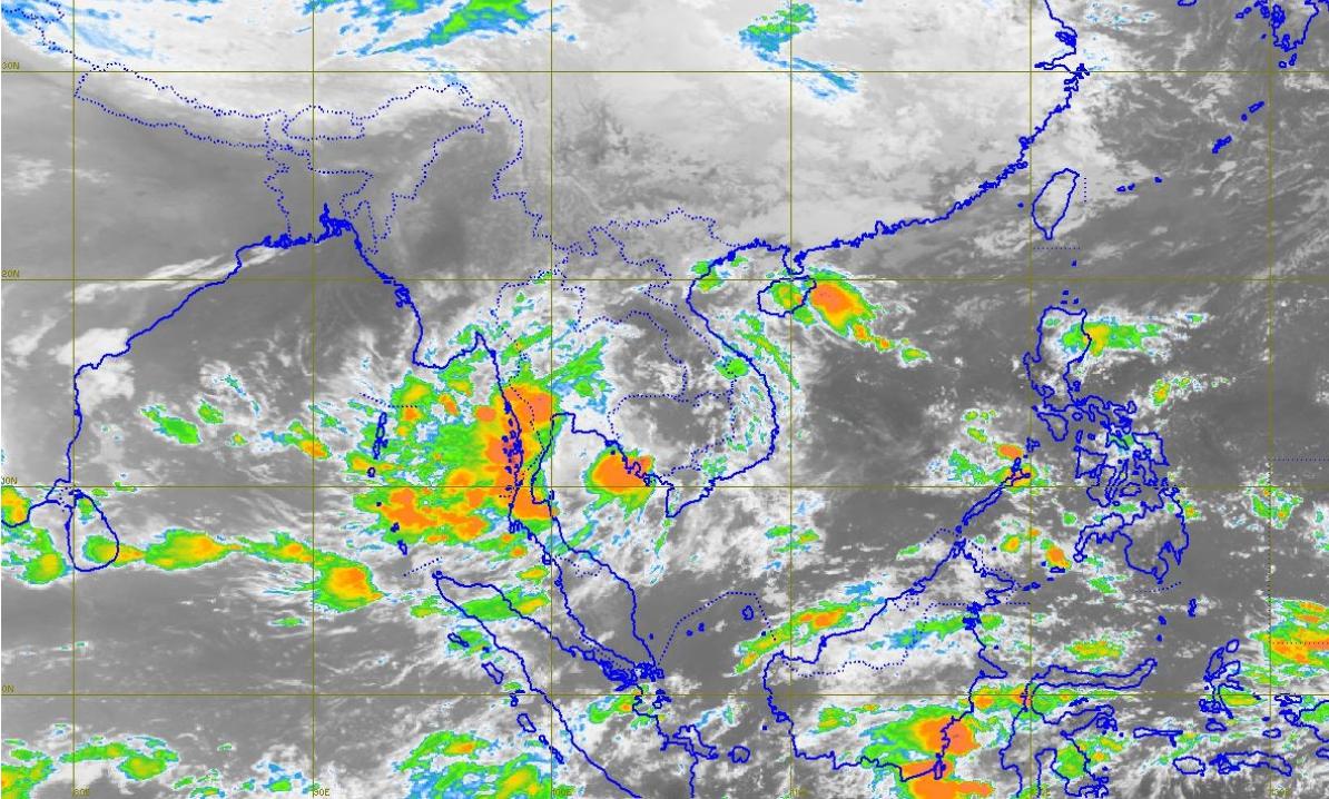 """กรมอุตุฯ เตือน """"พายุดีเปรสชัน"""" เข้าไทย เหนือ-กลาง-ตะวันออก-ใต้ มีฝนเพิ่ม"""
