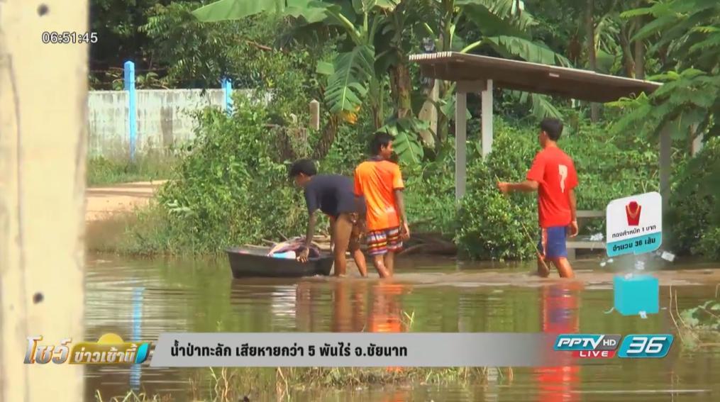 ชัยนาทอ่วม! น้ำป่าทะลักเสียหายกว่า 5 พันไร่