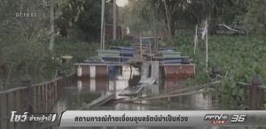 แม่น้ำพอง-แม่น้ำชีระดับน้ำเพิ่มสูงอย่างต่อเนื่อง