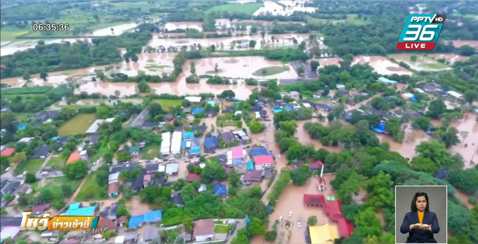 ปากช่อง เร่งอพยพชาวบ้าน หลังน้ำป่าทะลักเข้าบ้านเรือน