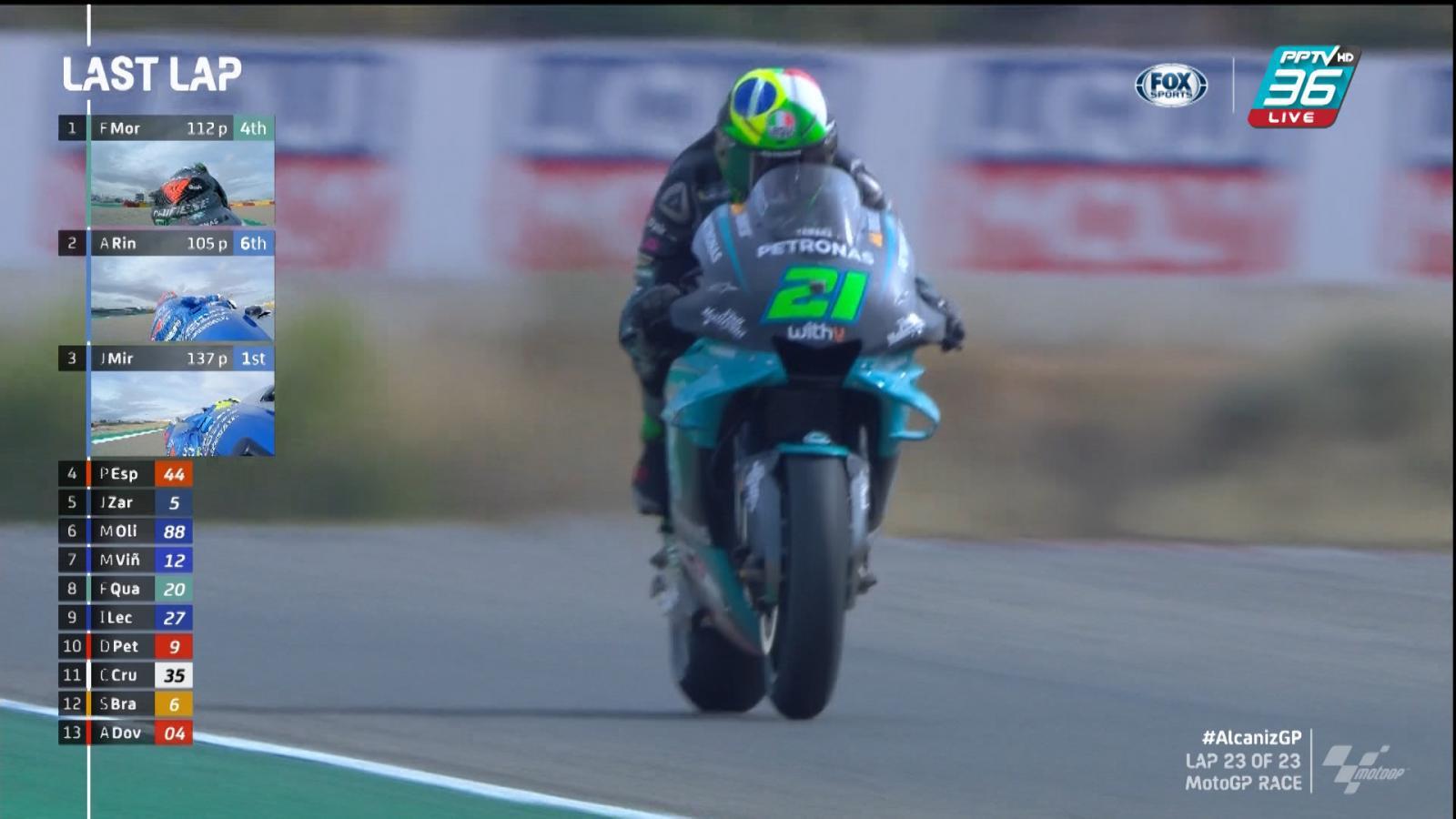 Franco Morbidelli  คว้าเเชมป์ MotoGP สนามที่ 12 ไปครอง