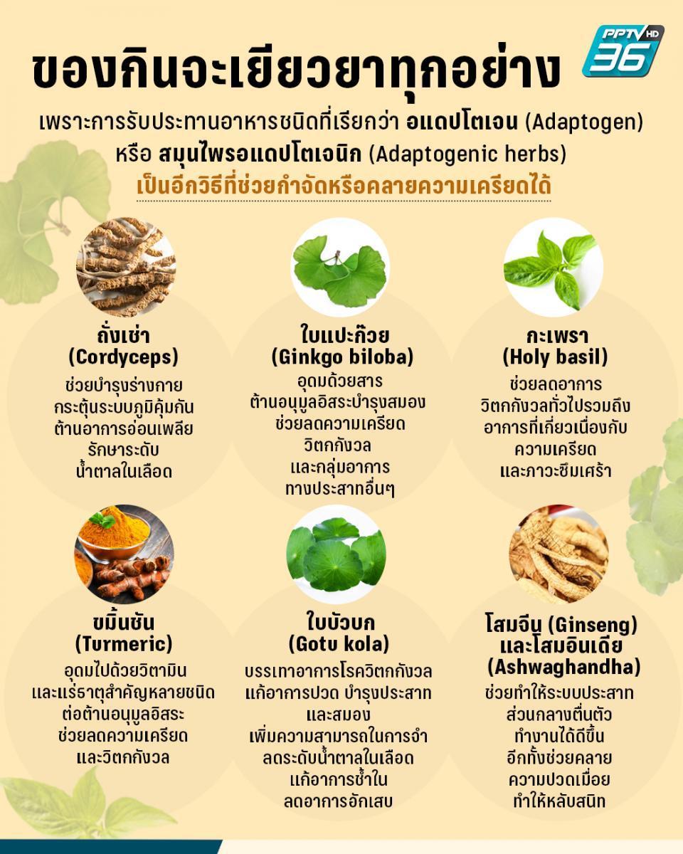 อาหารต้านเครียด! เพราะของกินจะเยียวยาทุกอย่าง