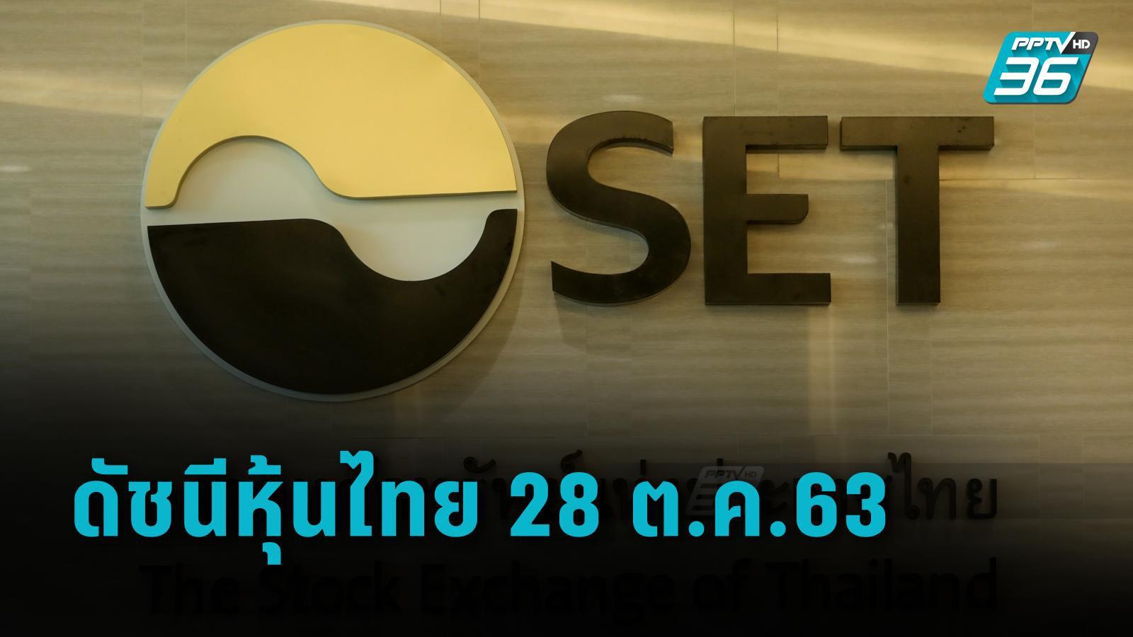 ดัชนีหุ้นไทย 28 ต.ค.63 ปิดการซื้อขายเช้าที่ 1,216.95 จุด เพิ่มขึ้น 8.00 จุด