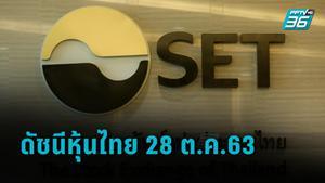 ดัชนีหุ้นไทย 28 ต.ค.63 ปิดการซื้อขายบ่ายที่ 1,207.94 จุด ลดลง -1.01 จุด