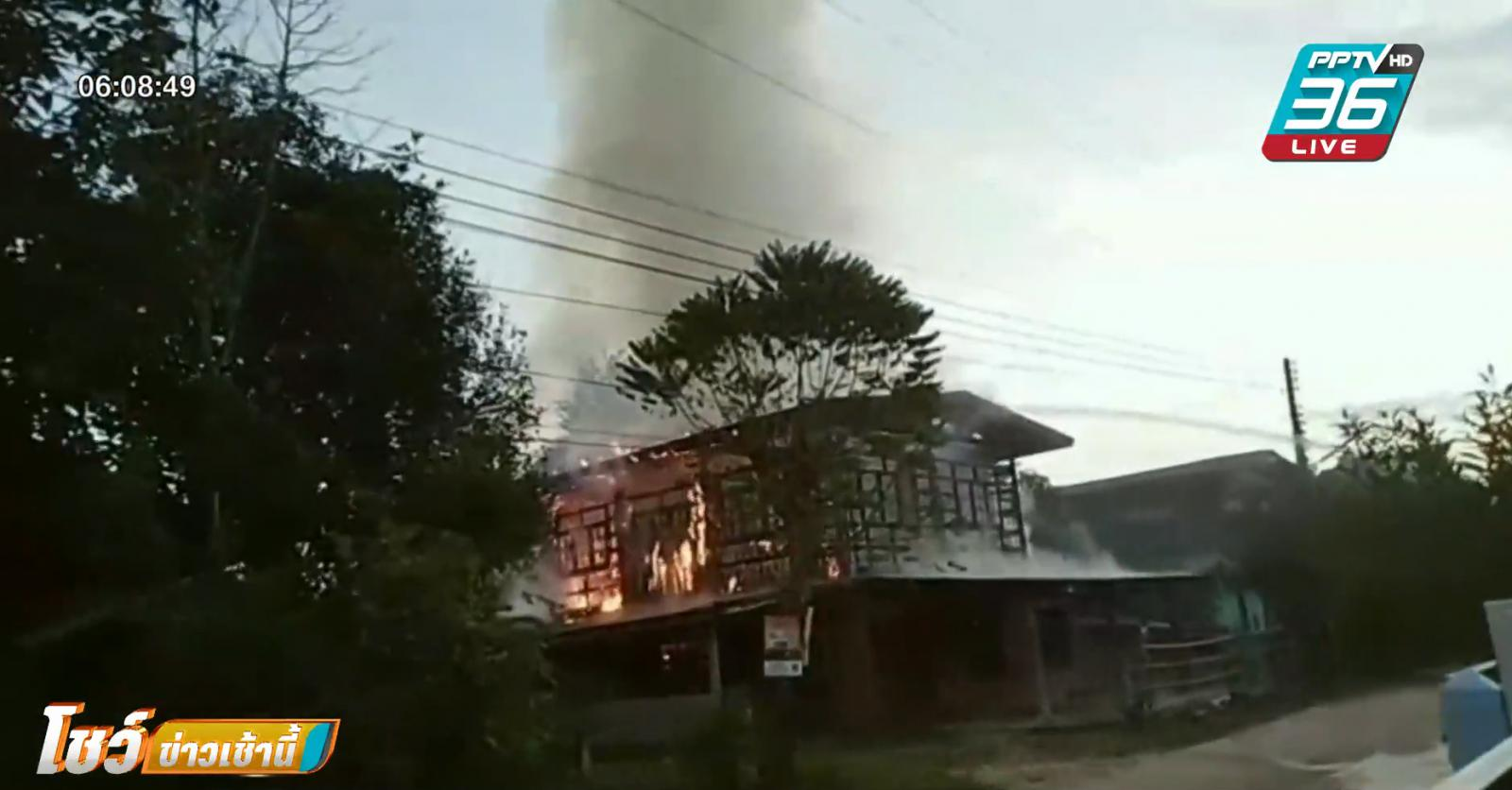 หนุ่มหลอนจุดประทัดไล่ผีในบ้าน ไฟไหม้วอดทั้งหลัง