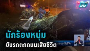 นักร้องหนุ่มเลิกงานกลับบ้าน ขับรถตกถนนเสียชีวิต
