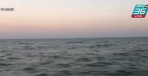 พ่อลูกเรือล่ม เกาะถังน้ำมันลอยคอกลางทะเล