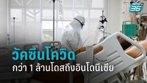 วัคซีนโควิด-19 กว่า 1 ล้านโดสจากจีนเดินทางถึงอินโดนีเซีย