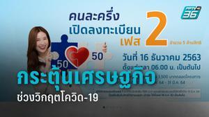 """คลัง แจง """"คนละครึ่ง"""" หวังกระตุ้นเศรษฐกิจไทยถึงต้นปี64  ลดรายจ่ายปชช. พยุงหาบเร่-แผงลอยนับล้าน"""