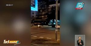 หนุ่มทำร้ายซาเล้ง ขอโทษ หลังรู้แฟนออกมายืนให้รถชนเอง