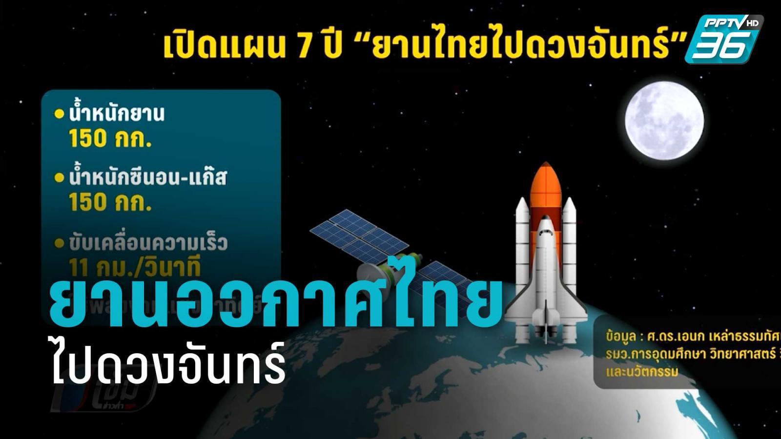 เปิดแผน 7 ปี ยานอวกาศไทยไปดวงจันทร์