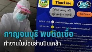 ไทม์ไลน์ผู้ป่วยโควิด-19 รายที่3-4 กาญจนบุรี ทำงานในบ่อนย่านปิ่นเกล้า