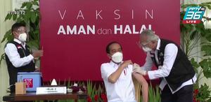 """ปธน.อินโดฯ ฉีดวัคซีน """"ซิโนแวค"""" เข็มแรก"""