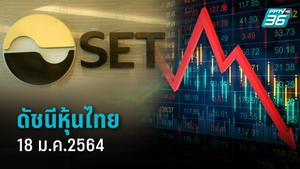หุ้นไทยวันนี้ (18 ม.ค.64)  เปิดการซื้อขายที่  1,510.77 จุด ลดลง 8.36 จุด  (-0.55%) มูลค่าการซื้อขายราว 4,799.05 ล้านบาท