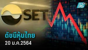 หุ้นไทย (20 ม.ค.) ปิดการซื้อขายระดับ 1,515.72 จุด ลดลง 6.87 จุด