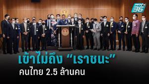 """""""ภูมิใจไทย"""" ชี้ คนไทย 2.5 ล้านคน เข้าไม่ถึง """"เราชนะ"""""""