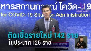 พุ่งหลักร้อย! ติดเชื้อโควิด-19 รายใหม่ 142 ราย ในประเทศ 125 ราย
