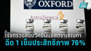 วิจัยพบ ฉีดวัคซีนแอสตราเซเนกาเข็มเดียว มีประสิทธิภาพสูงสุด 76%