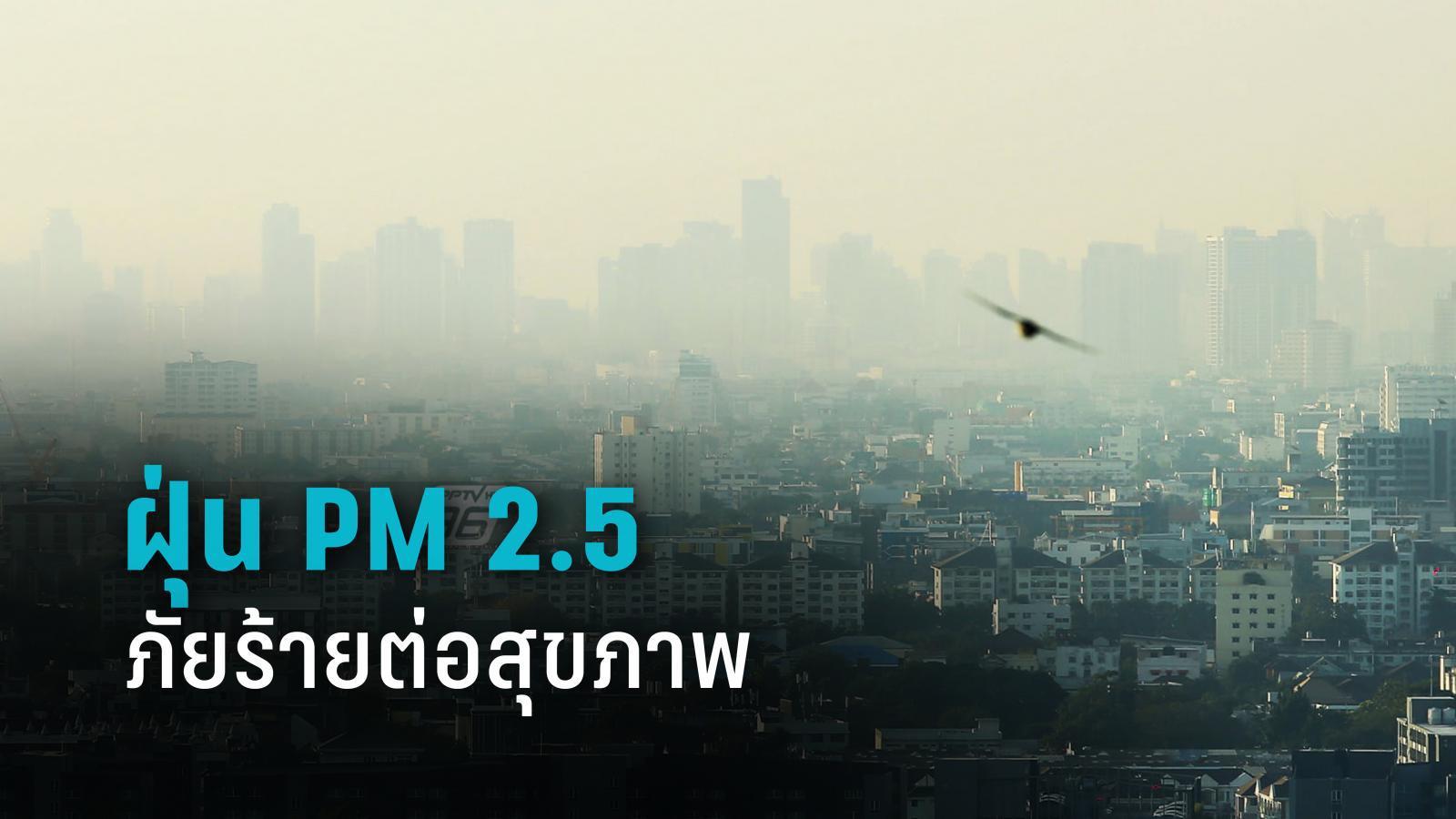 กรมการแพทย์ เตือนฝุ่น PM 2.5 ภัยร้ายต่อสุขภาพ
