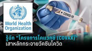 รู้จักโครงการโคแวกซ์ (COVAX)  เสาหลักของการกระจายวัคซีน