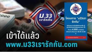 """เข้าลงทะเบียน """"ม33"""" ผ่าน www.ม33เรารักกัน.com ขั้นตอนสมัคร ข้อตกลง เงื่อนไขรับสิิทธิ 4,000 บาท"""