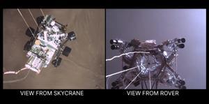 เปิดภาพจริงยานนาซาลงจอดดาวอังคาร