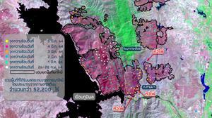 ดาวเทียม สแกนเขื่อนภูมิพล พบพื้นที่เผาไหม้กว่า 52,200 ไร่