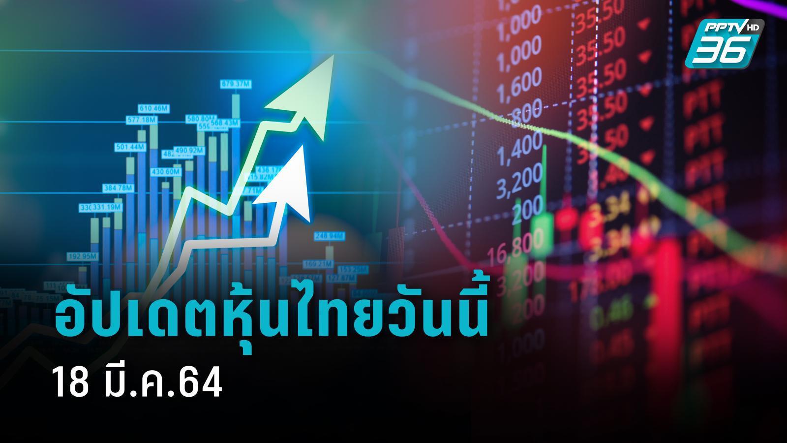 แนวโน้มหุ้นไทย (18 มี.ค.64) ปิดการซื้อขายเช้า 1,577.86 จุด ปรับขึ้น +11.10 จุด