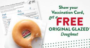 คริสปีครีม แจกโดนัทคนฉีดวัคซีนโควิดตลอดปี