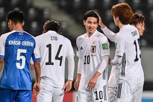 """""""ญี่ปุ่น"""" ถล่ม """"มองโกเลีย"""" ขาดลอย 14-0 คัดบอลโลก"""