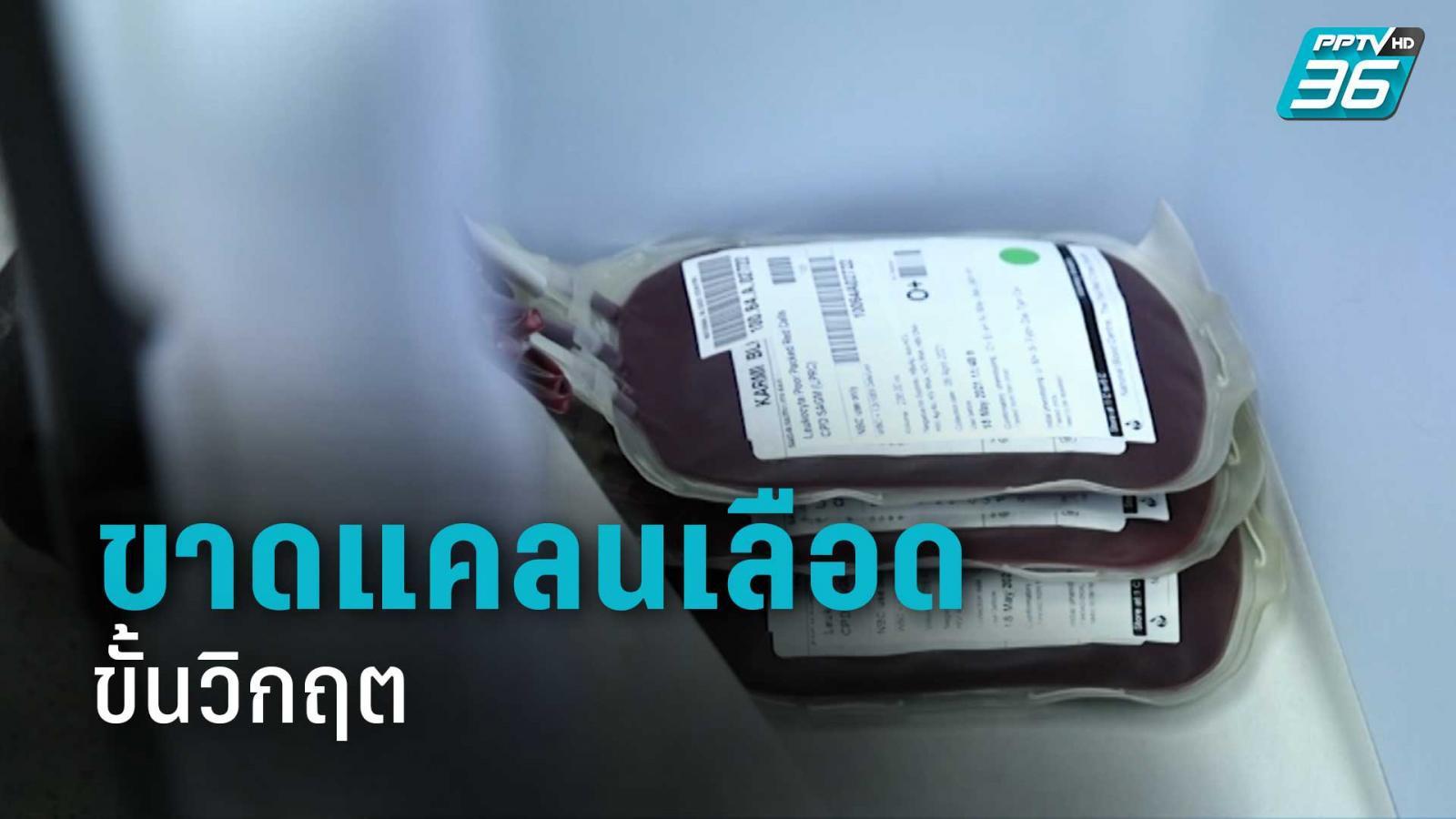 สภากาชาดไทย วอน บริจาคเลือด หลังขาดแคลนเลือด ขั้นวิกฤต