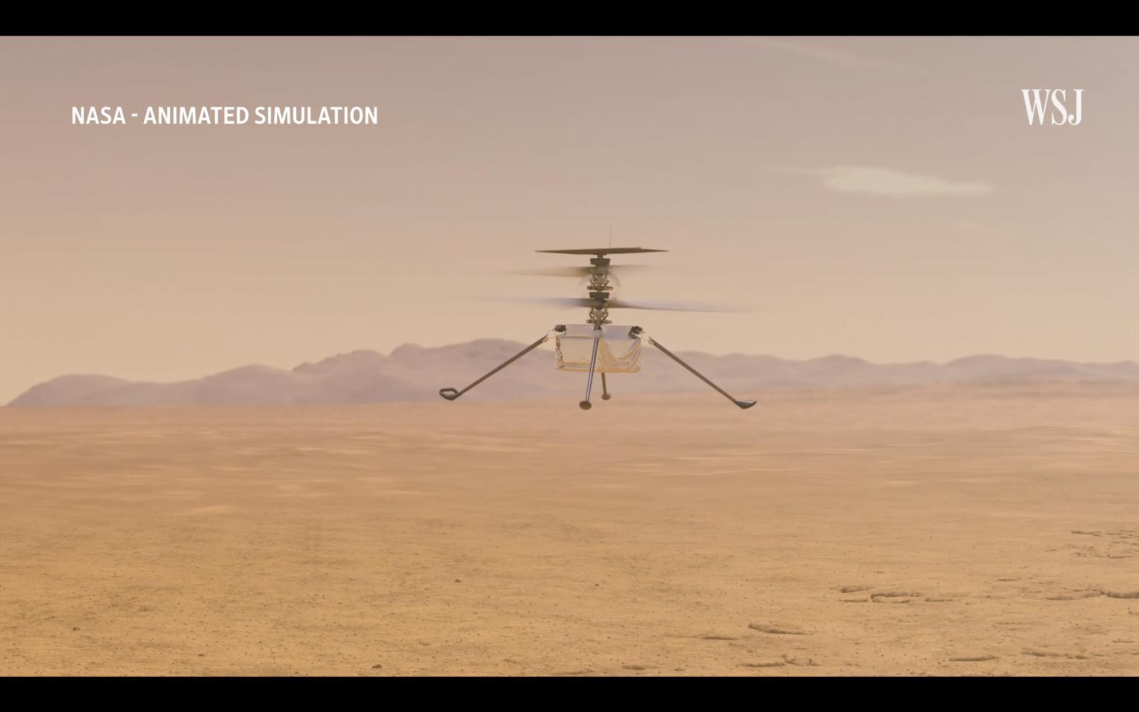 เฮลิคอปเตอร์นาซาบินบนดาวอังคารสำเร็จ
