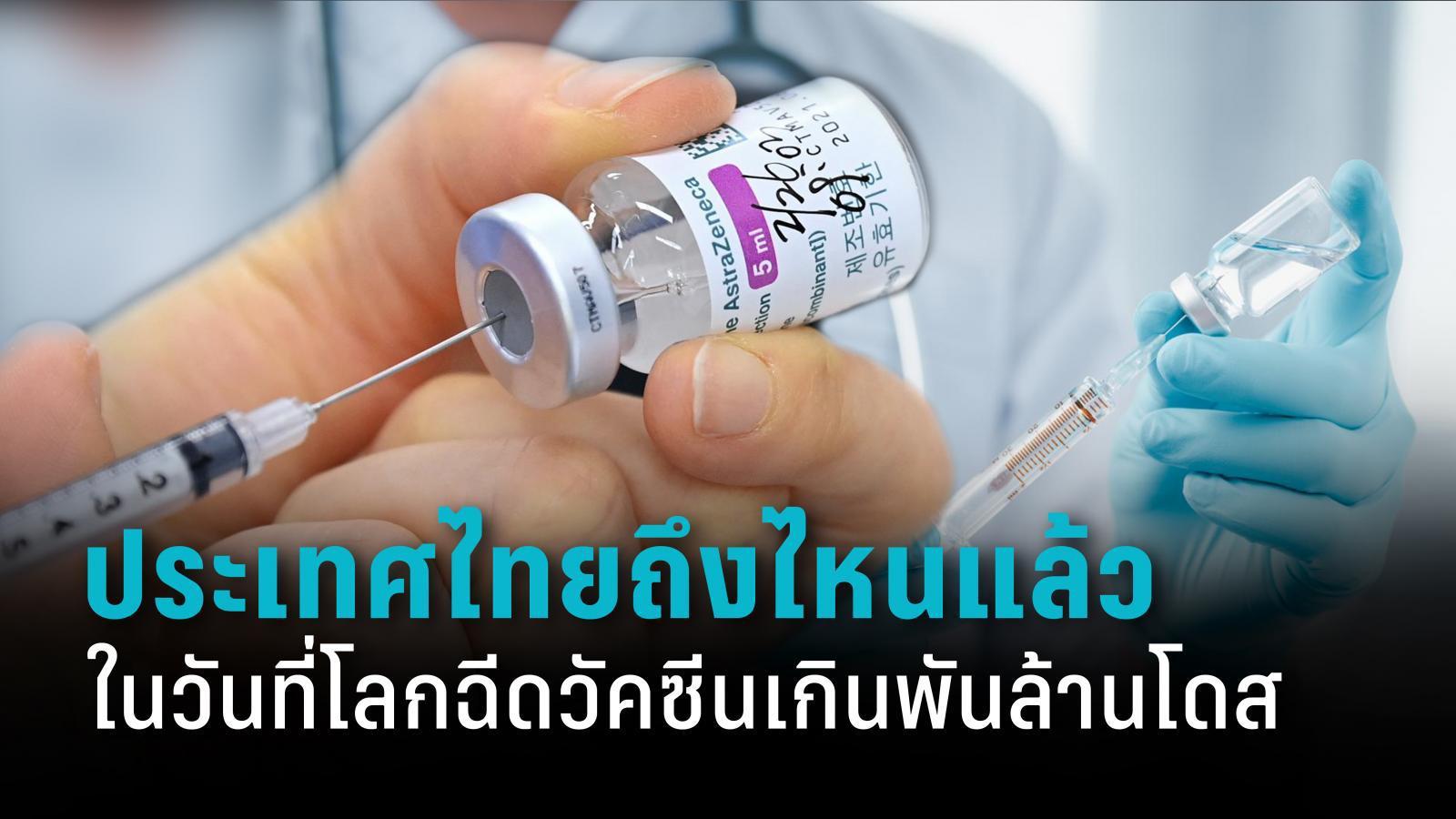 ไทยอยู่ตรงไหน? เมื่อโลกฉีดวัคซีนโควิด-19 ไปแล้ว 1 พันล้านโดส
