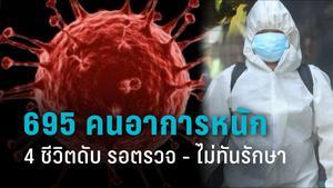 หดหู่! โควิดวันนี้คร่าอีก 15 ชีวิต 4 รายไม่ทันรักษา รอตรวจ 3 วัน จนตาย 695 รายอาการหนัก