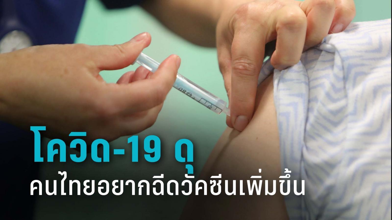 อนามัยโพล ชี้ ช่วงโควิดดุ ทำคนไทยอยากฉีดวัคซีนเพิ่มมากขึ้น