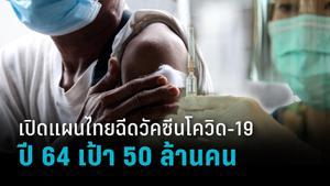 แผนฉีดวัคซีนโควิด-19 ปี 64  เป้า 50 ล้านคน เตรียมกระจายหน่วยเคลื่อนที่
