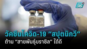วิจัยใหม่พบ วัคซีนโควิด-19 สปุตนิกวี ต้านสายพันธุ์บราซิลได้ดี