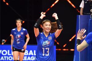 สุดต้าน ตบสาวไทย แพ้ จีน วอลเลย์บอลเนชั่นส์ ลีก 2021