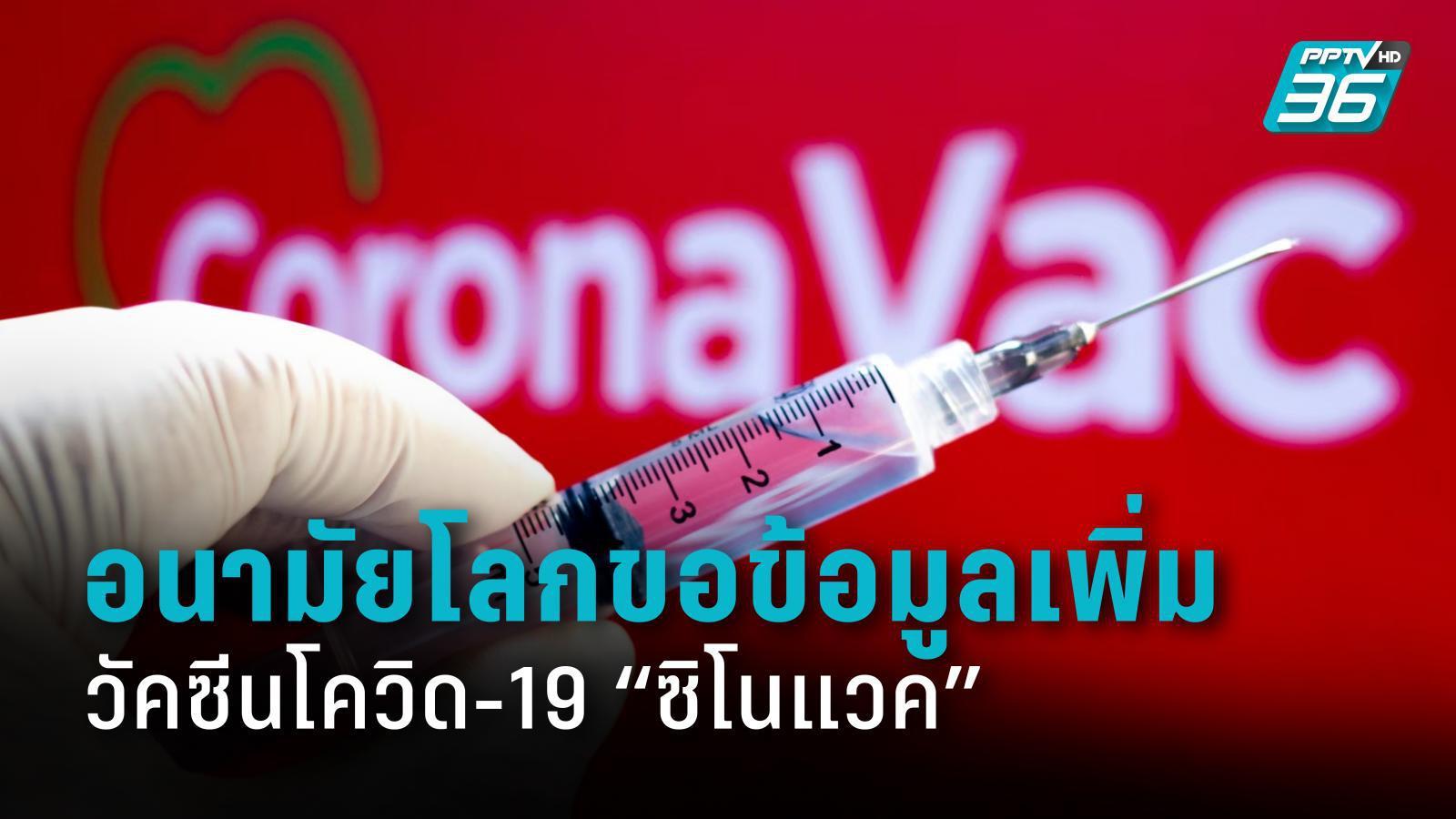 """อนามัยโลกขอข้อมูลวัคซีน """"ซิโนแวค"""" เพิ่ม เพื่อพิจารณาอนุมัติใช้ฉุกเฉิน"""