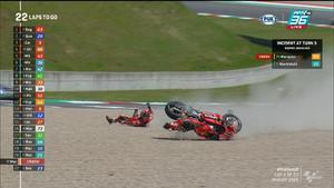 จังหวะล้มของ Marc Marquez และ Francesco Bagnaia