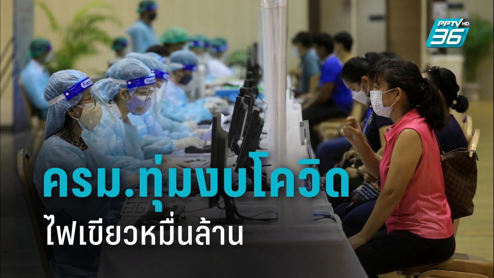 ครม.ทุ่มงบหมื่นล้าน จ่าย 4 ด้าน ตรวจ รักษาโควิด ผลข้างเคียงวัคซีน อนุมัติ 1.5 พันล้านจ่ายอสม.