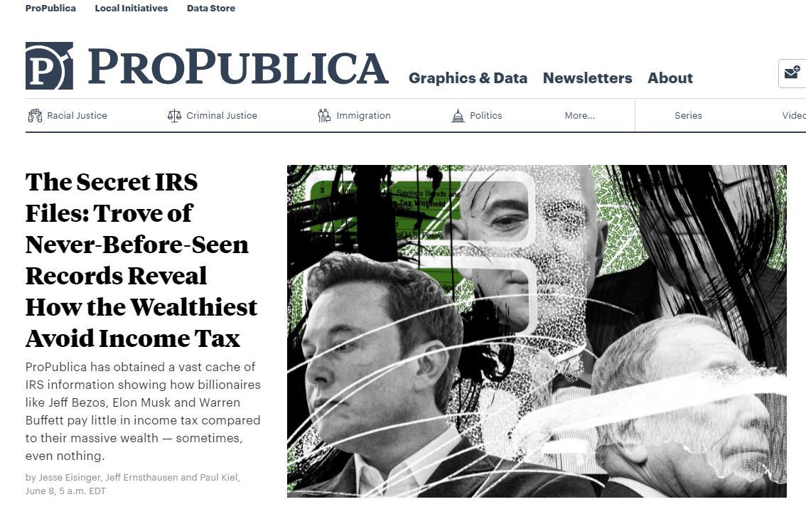 สื่อเผย เหล่ามหาเศรษฐีสหรัฐฯ ใช้กลยุทธ์ขั้นสูง เลี่ยงเสียภาษีเงินได้