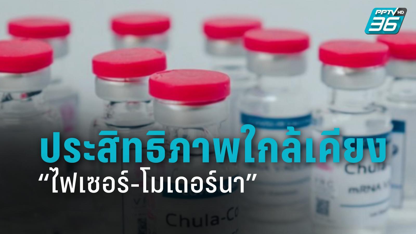 """วัคซีนจุฬาฯ ประสิทธิภาพใกล้เคียง """"ไฟเซอร์-โมเดอร์นา"""""""