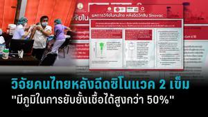 ผลการวิจัยในคนไทย หลังฉีดวัคซีนซิโนแวค 2 เข็ม